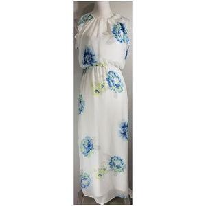 Old Navy Flutter Sleeve Maxi Dress